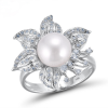 Pearl Shiny Diamond Ring