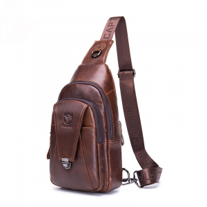 Genuine Leather Chest Backpack