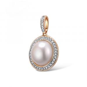 Sparkling Diamond Gold Pendant