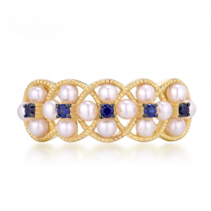 Blue Sapphire Gold Rings