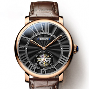 Leather Seagull Men's Watch