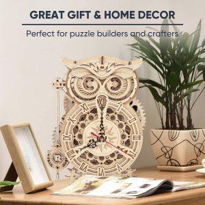 Creative DIY 3D Owl Clock