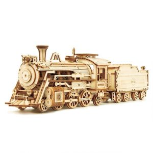 Movable Wooden Steam Train