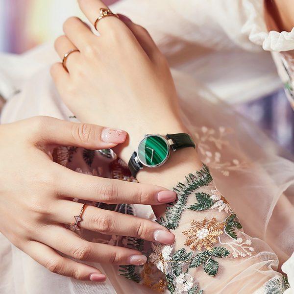 Womens Malachite Bracelet Watches