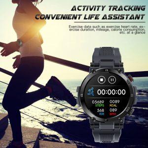 Bluetooth IP68 Waterproof Smartwatch