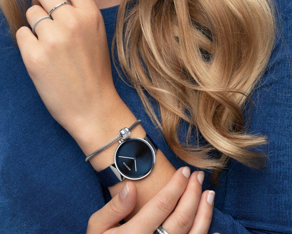 Bering Women's Navy Blue Solar Watch 14331-307 senseorient