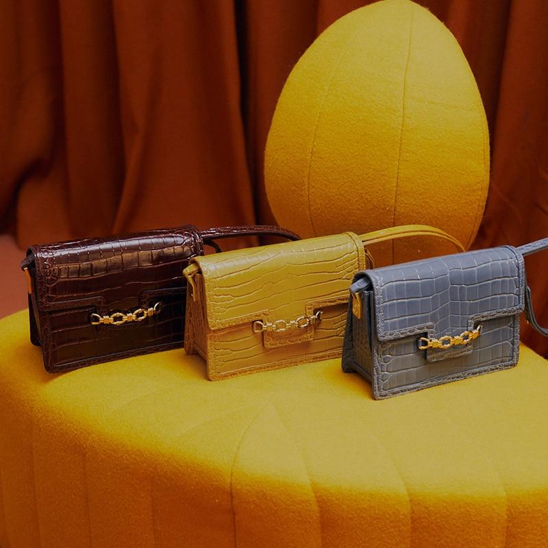 LAFESTIN-handbags-shoulder-bag-fashion-2020-new-crocodile-leather-bags-Shoulder-messenger-bag-2021-luxury-designer at senseorient